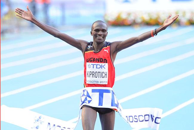 iprotich celebrates winning marathon gold in oscow