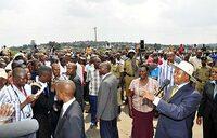 Museveni visits Namungoona inferno scene