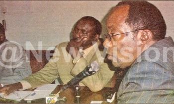 Kiggundu r announces the nominations dates at the ec headquarters in kampala on september 16 2005 350x210