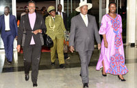 PICTORIAL: Museveni return from London