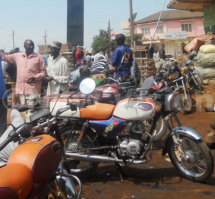 oda boda riders after arriving at the scene