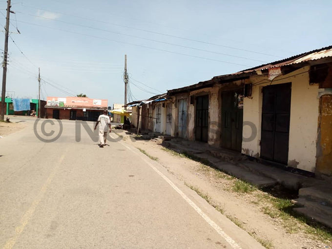 undibugyo streets after the presidents directive to close all the shops except fresh food markets hotos by