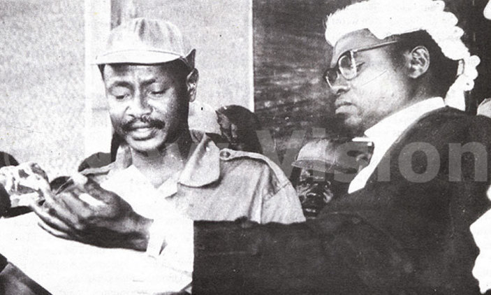 Yoweri Museveni swearing in as President in 1986. (Archives)