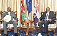 Museveni, Uhuru discuss regional projects