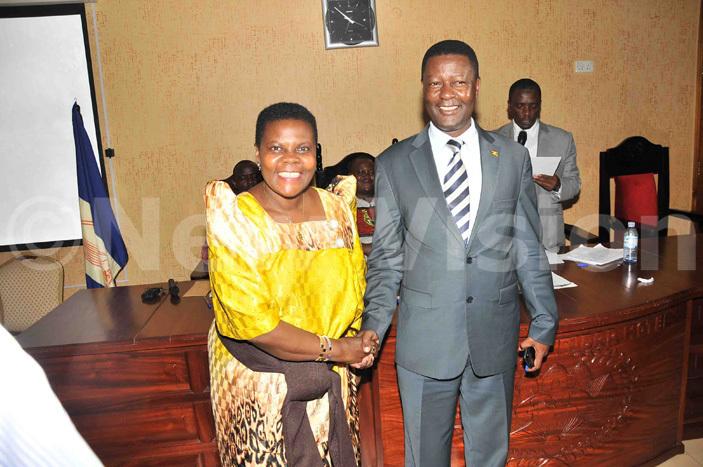 ukono outh ember of arliament ohnson uyanja senyonga elected chairperson of uganda caucus with his deputy arah akawunde