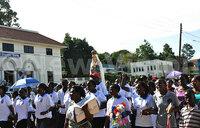 Virgin Mary statue procession paralyzes Entebbe