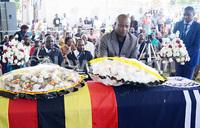 Museveni laudsfallen Police band chief