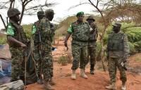 UPDF commander visits troops in Barawe, Somalia