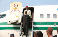 Nigeria's president home after 100-day treatment abroad