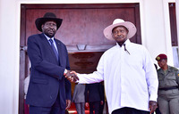 Museveni meets Kiir at State House
