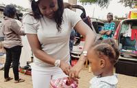 Iryn Namubiru donates to kids