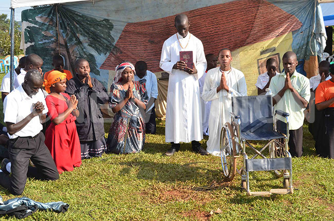 scene from a religious drama by the students of t osephs  aggalama