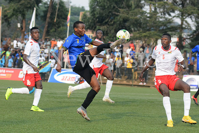 ction between anzania and enya during a  match at ugogo on unday