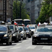 Polish taxi drivers protest against Uber