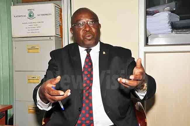 amuel yomukama ead of nforcement ational rug uthority addressing journalists at ational rug uthority offices in kampala on onday 4 ovember 2019 hoto by karim sozi