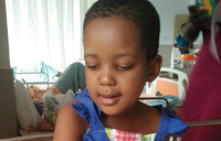 5-year-old Mukama is stranded in India