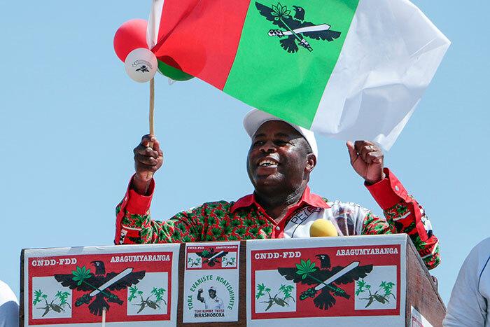 Burundi's President Evariste Ndayishimiye. (Photo by AFP)