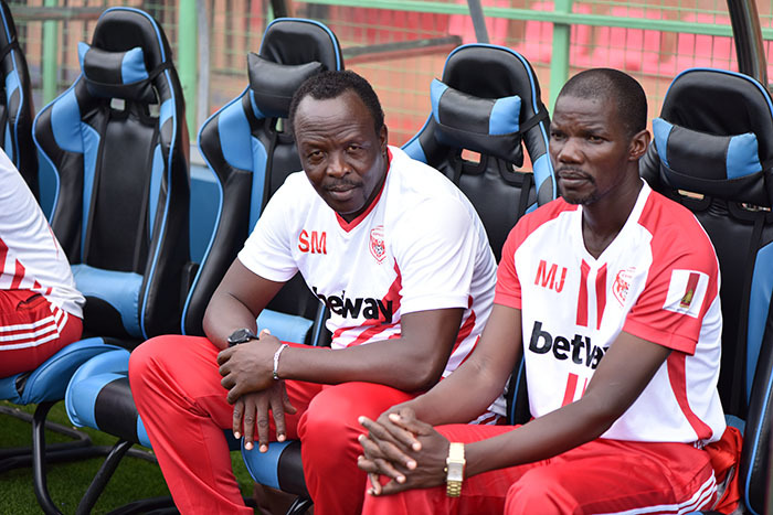 xpress coach eorghe simwogerere and his assistant ames agala are under fire for poor results icture y ichard anya