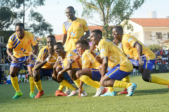 The current crop of players at KCCA FC. File Photo