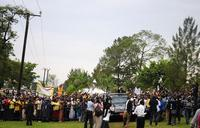Big crowds welcome back Museveni