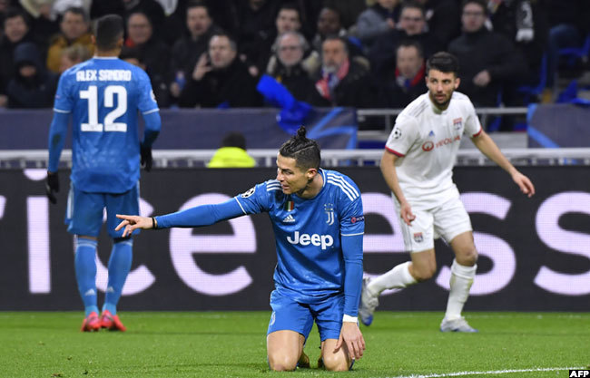 t was a frustrating night for ristiano onaldo
