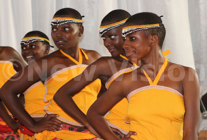 each out alents lub dancers do a courtship dance from western ganda