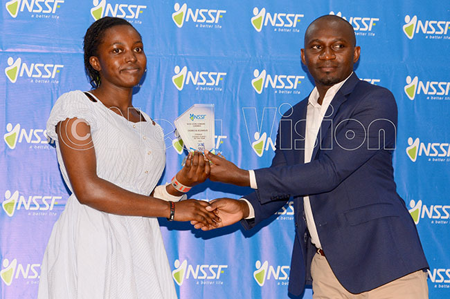 ockey player of the year 2016 oreen siimwe left receives her award