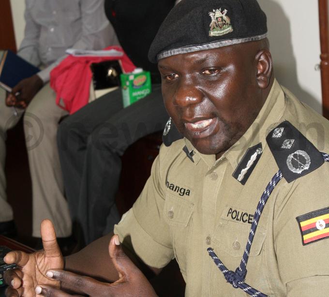olice pokesperson red nanga addressing the media at police headquarters in aguru hoto by eff ule