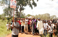 Over 1000 Christians participate in the Way of the Cross in Iganga