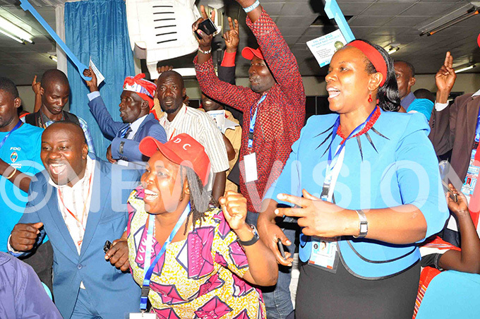 chief mobiliser ngrid urinawe  and other muriats supporters celebrate his victory