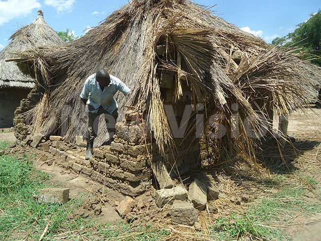 ne of the buildings destoyed by the hailstorm in ojama village oroti district hoto by mmanuel pio
