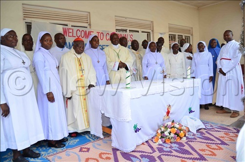 ardinal amala with some of the atholic nuns who graced his function