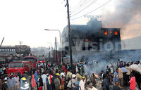 Fire guts Salabed building in Kisenyi