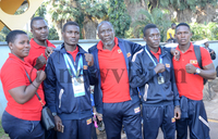 Uganda All Africa Games contingent back home
