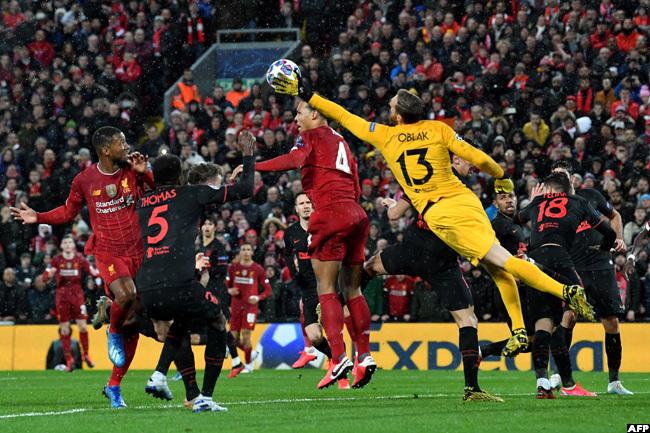 an blak was brilliant in the tletico adrid goal