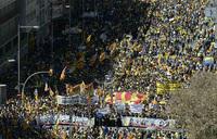Massive march in Barcelona against jailing of separatist leaders