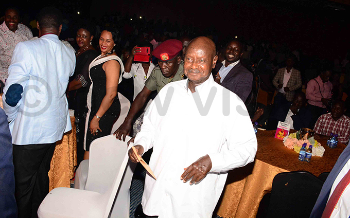 resident useveni got out of his seat on a couple of occasions to display his dancing skills hoto by ddie sejjoba
