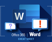 Word for Office 365 cheat sheet