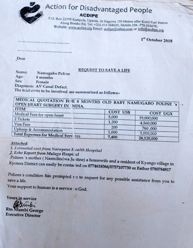 medical quotation for amugabos open heart surgery