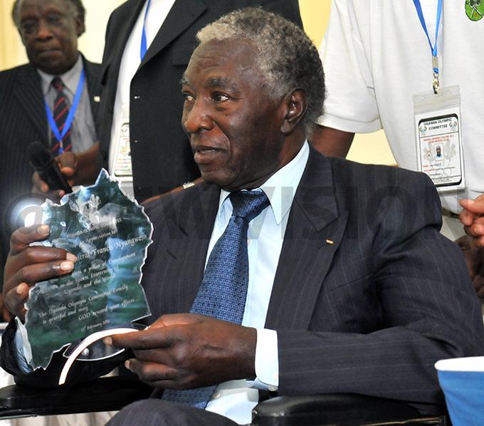 ganda lympic ommittee  assemblyrewards ajenyangweso rewarded in 2011