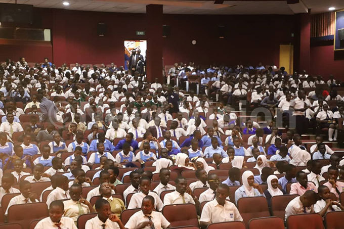 he packed auditorium at the nternational niversity of ast frica in ansanga