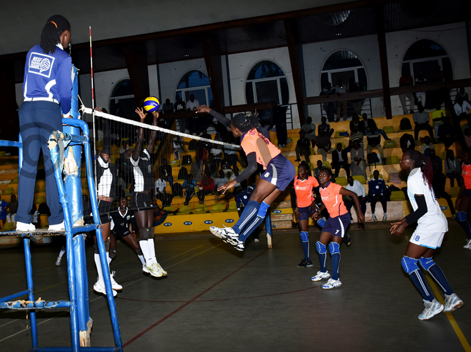 port  player blocks a spike by dejje lites player during their game at ugogo hoto by ohnson ere