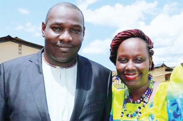 umwesigye with his wife