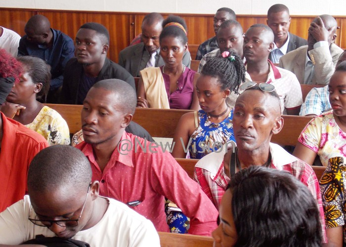elatives of the suspects during ourt proceedings at uganda oad ourt ampala on ct 31 2019 hotos by ouglas ubiru