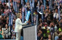 Clinton accepts historic nomination, slams Trump vision