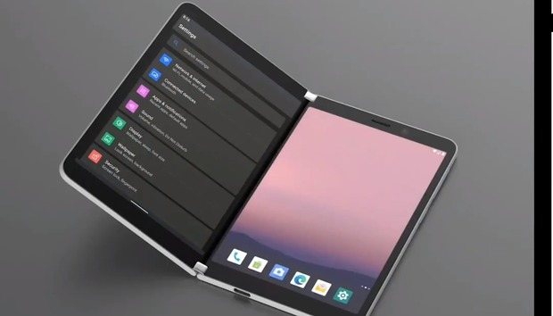 Here's what Android running on the dual-screen Surface Duo might look like
