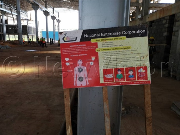 Signage of Covid-19 prevention SOPs at site
