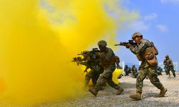 South korean and us marines 350x210