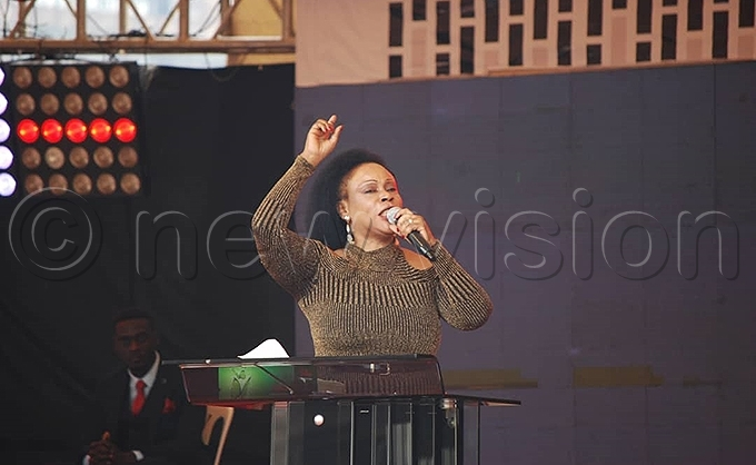astor essica ayanja preaches to the hundreds of hristians who turned up to celebrate hristmas hoto by awrence ulondo
