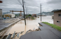 Landslide warnings as Japan digs through rain devastation